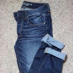 American Eagle Dark Wash Boyfriend Jeans